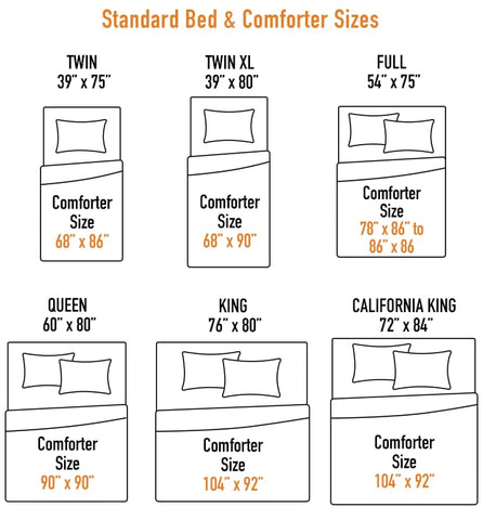 comforter and bed sizes chart