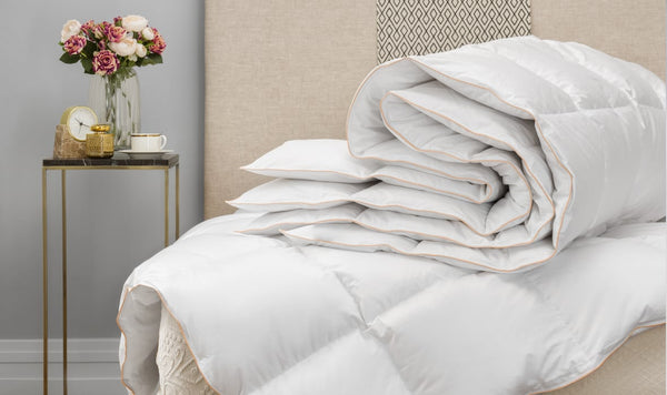 beautiful white down comforter