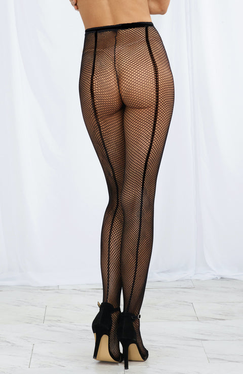 Fishnet Pantyhose with Back Seam by Dreamgirl