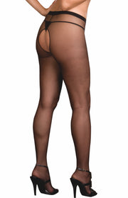 Plus Size Crotchless Tights by Dreamgirl
