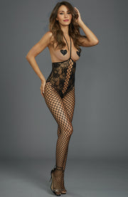 Crotchless Open-Cup Bodystocking by Dreamgirl
