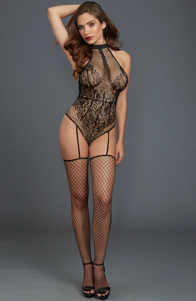 Fishnet and Lace Bodystocking by Dreamgirl
