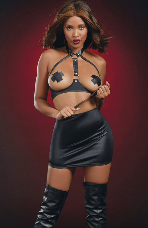 Leather-Look Lingerie Set by Dreamgirl