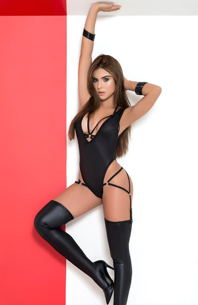 3 Piece Wet Look Bodysuit Set by Mapale