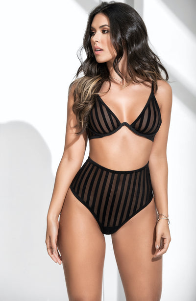 Hot Stripe Lingerie Set by Mapale
