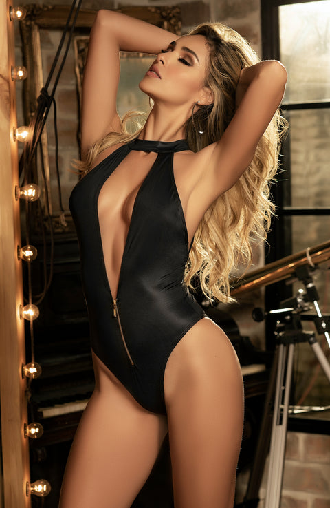 Wet Look Bodysuit by Mapale