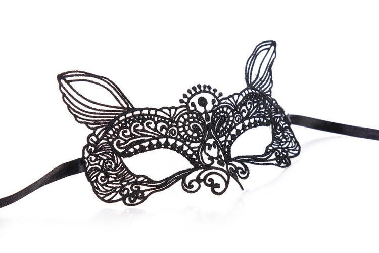Halloween Black Cat Eye Mask-Costumes-new tempt-One Size-Black-Bouji Lingerie