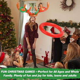 CHRISTMAS SALE - 50% OFF - Christmas Reindeer Antler Ring Toss Game - kidsstoreefw