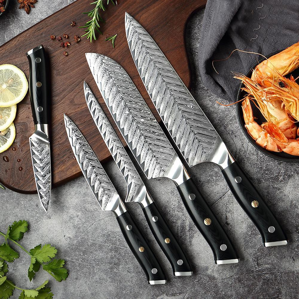 Damascus Chef Knife, Hand Forged Steel Kitchen Knife