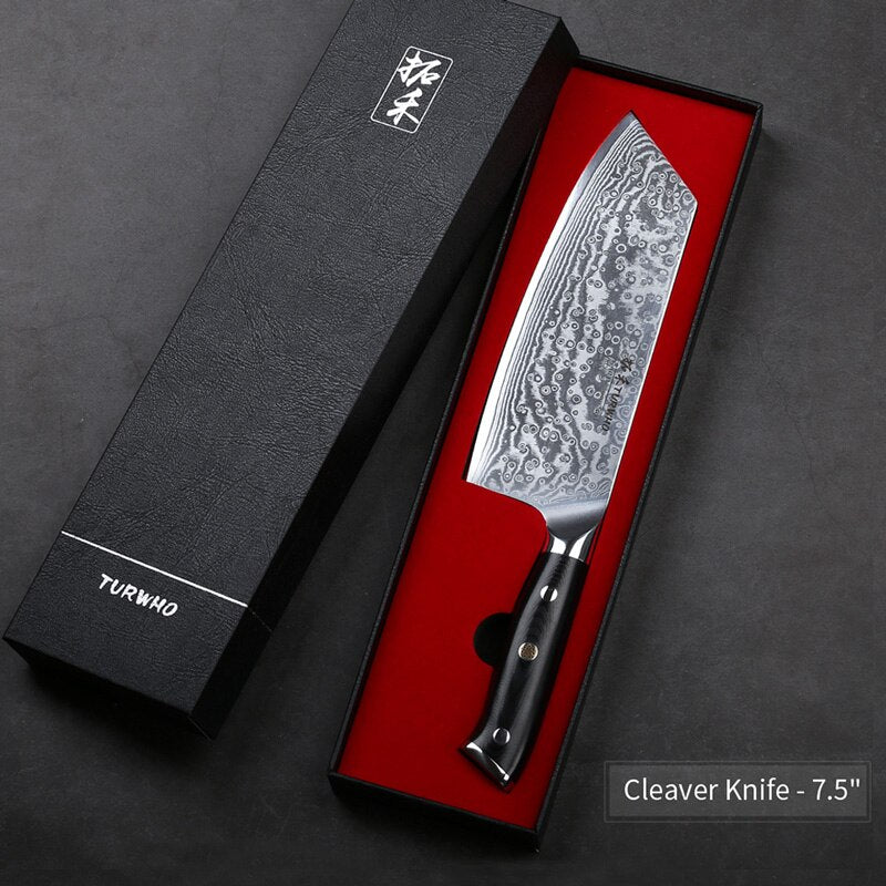 Damascus Steel Japanese Chef Knife 8
