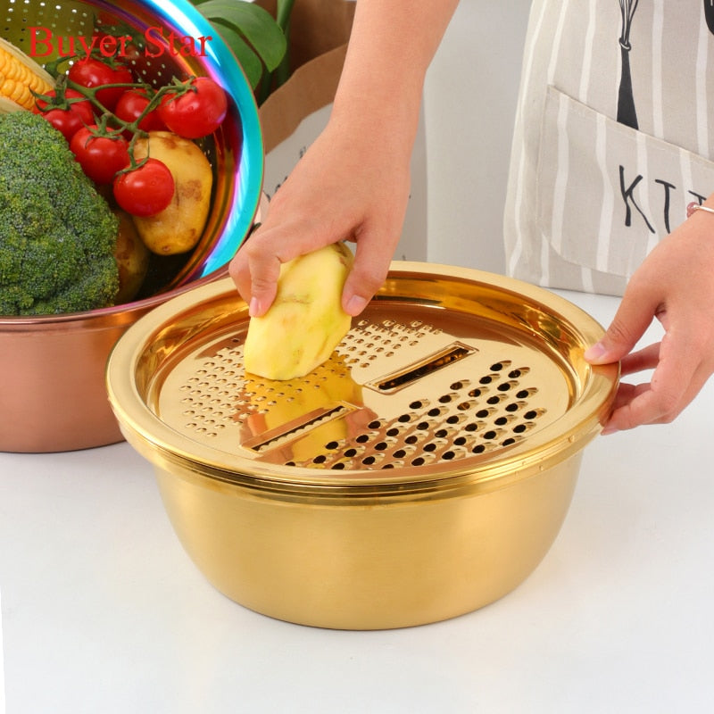 5 in 1 Stainless Steel Strainer Food Processor