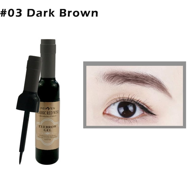 1Pcs Peel Off Eyebrow Tattoo Gel  in A Black Coffee Gray Color for Women