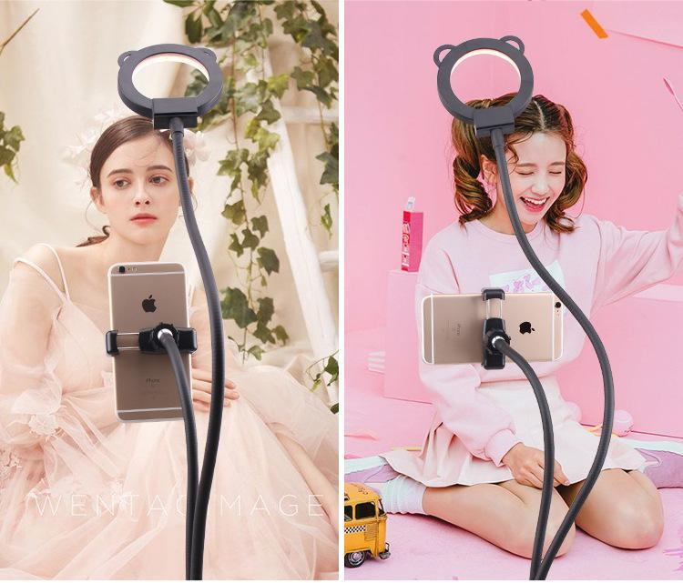 Professional Portable LED Light with Cell Phone Holder - kidsstoreefw