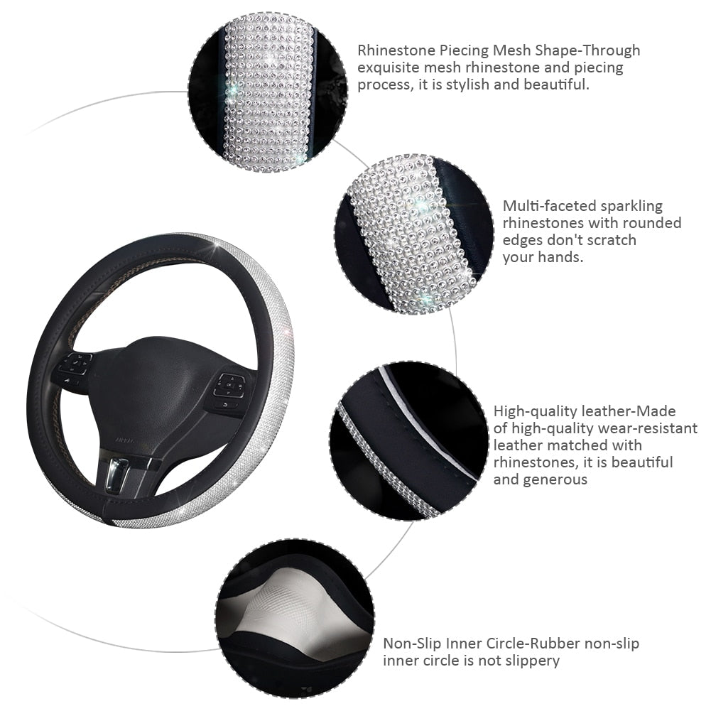 ALYSSA™️ CRYSTAL STEERING WHEEL COVER - kidsstoreefw