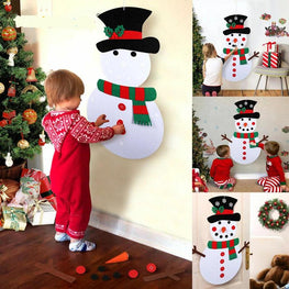 DIY Felt Christmas Snowman or Tree - Best Gift For Children