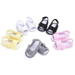 Baby Girls Bowknot Summer Casual Soft Sole Sandals - kidsstoreefw