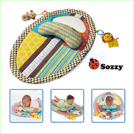 1pcs Tummy Time Baby Play Mat With Mirror, pillow, and 2 toys - kidsstoreefw