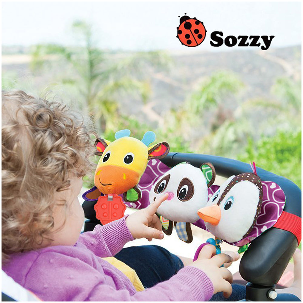 Sozzy Musical Baby Toys Stroller Cot Bed Hanging Crib Mobile Soft Panda Deer Penguin Plush Rattle Teether Toy For Newborn Babies - KidsJoyful