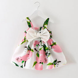 Baby Girls Floral Sleeveless Princess Dress - KidsJoyful