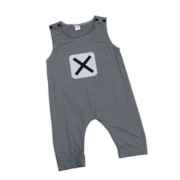 Cute Boys Striped Romper with X on Chest - kidsstoreefw