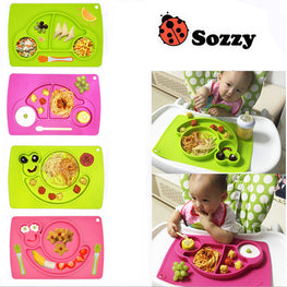 1pcs Sozzy Cute Silicone one-piece feeding Mat - kidsstoreefw