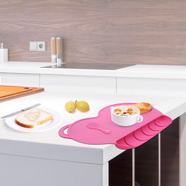 4 Colors: Baby Silicon Place Mat, Slip-resistant & Waterproof - KidsJoyful