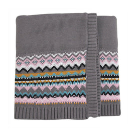 Knitted Cotton Baby Blanket - KidsJoyful