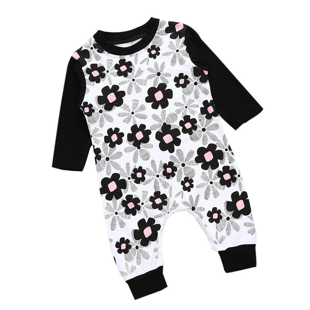 Baby Girls Floral Romper Long Sleeve - kidsstoreefw