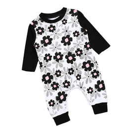 Baby Girls Floral Romper Long Sleeve - KidsJoyful