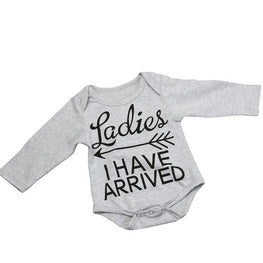 "Baby Boy Long Sleeve Onesie- ""Ladies, I Have Arrived"" - KidsJoyful"