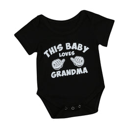 "Baby Onesie ""This Baby Loves Grandma"" - KidsJoyful"