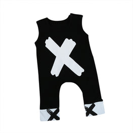 Baby Boys/Girls Cotton Cross-Printed Romper - KidsJoyful