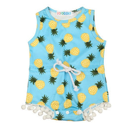 Baby Girls Romper with Pineapple Print and  Tassels - KidsJoyful