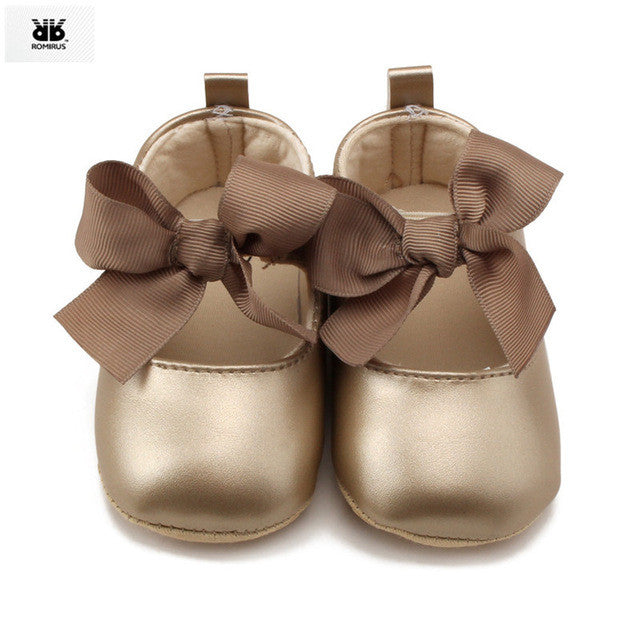 Baby Girl Leather Shoes- Silver or Gold - kidsstoreefw