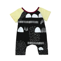 Fashion Printed Baby Short Sleeve Romper - KidsJoyful
