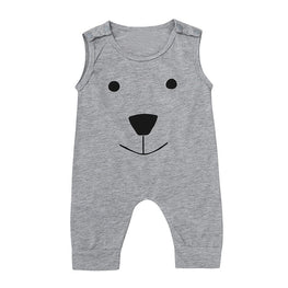 Baby Girl/Boy  Cotton Bear Sleeveless Romper - KidsJoyful