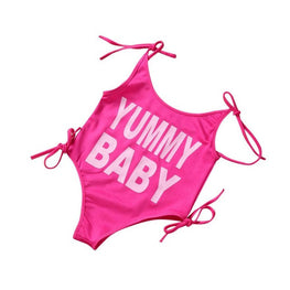 "Baby Girl Bathing Suit- ""Yummy Baby"" - KidsJoyful"