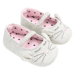 Baby Girl Soft Shoes- Cat Design - kidsstoreefw