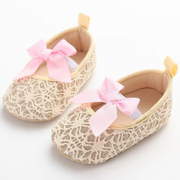 Toddler Girl Crib Shoes Newborn Flower Soft Sole Anti-slip Baby Sneakers - kidsstoreefw