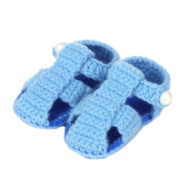 Croched Handmade Newborn Baby Sandals - KidsJoyful