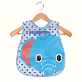 Waterproof EVA Baby Feeding Bib with Pocket Cartoon Pattern for Toddlers Infants (Sent Out At Random) - KidsJoyful