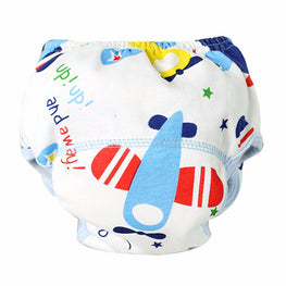 Baby Boy Cloth Diaper- Washable- Airplanes - KidsJoyful