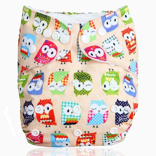 Washable 1pc Cloth Diaper with 1pc Microfiber Insert- Various Styles - kidsstoreefw