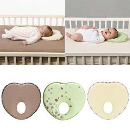 Heart Shape Anti-Roll Pillow with Flat-Head Prevention - kidsstoreefw