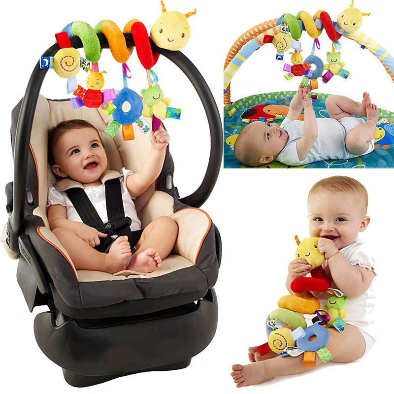 Spiral Stroller & Car Seat Toy with Ringing Bell- Caterpillar - KidsJoyful