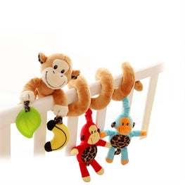 Cute Monkey Design Baby Activity Spiral For Crib,Stroller, or Carrier - kidsstoreefw