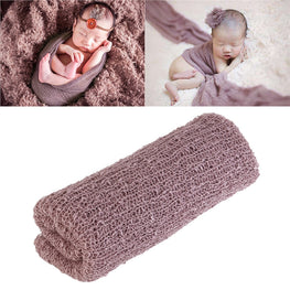 TINKSKY Newborn Baby Photography Photo Prop Stretch Wrap Baby Long Ripple Wrap - KidsJoyful