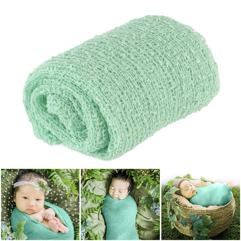TINKSKY Newborn Baby Photography Photo Prop Stretch Wrap Baby Long Ripple Wrap - kidsstoreefw