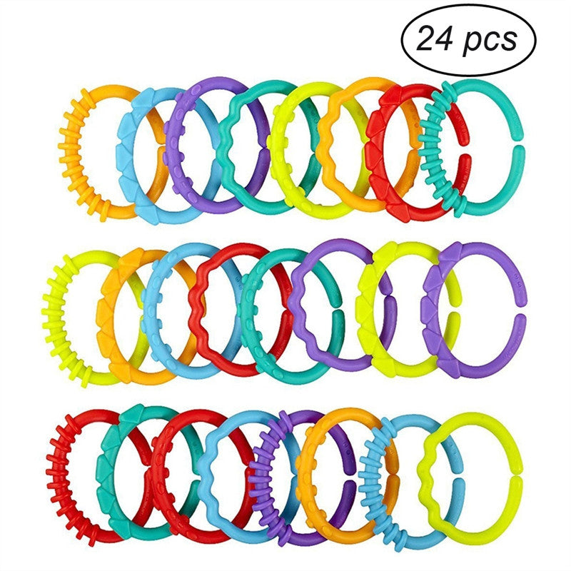 24pcs Baby Teether Ring Links - KidsJoyful