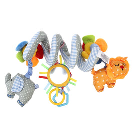 Baby Car Seat & Crib Toy- Elephant Lion with Mirror and Bell - kidsstoreefw